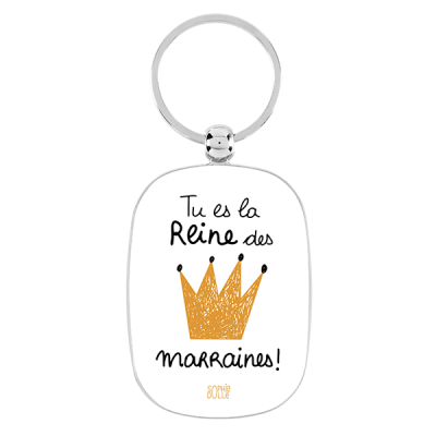 Porte-clés Reine des marraines