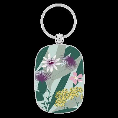 Porte-clés Fleurs exotiques
