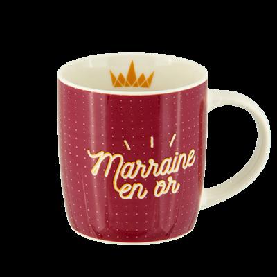 Mug (+ boite) Marraine en or