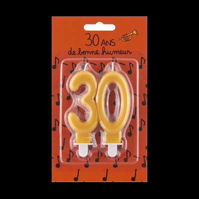 Bougie d'anniversaire 30...