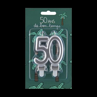 Bougie d'anniversaire 50 ans