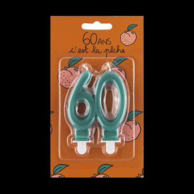 Bougie d'anniversaire 60 ans